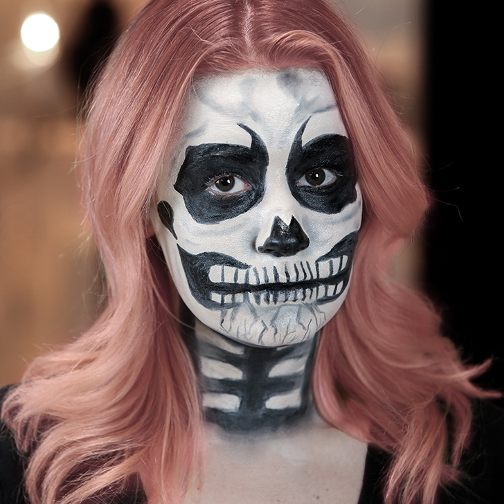 Skeleton Halloween Makeup Tutorial POPSUGAR Beauty - Skeleton Halloween Makeup
