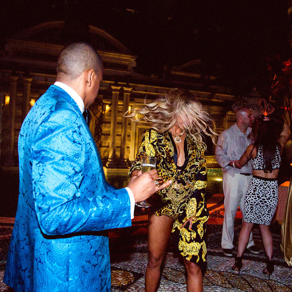 She and Jay Z got their dance on while celebrating New Year's Eve at the Versace mansion in Miami in 2013. Source: Tumblr user Beyoncé