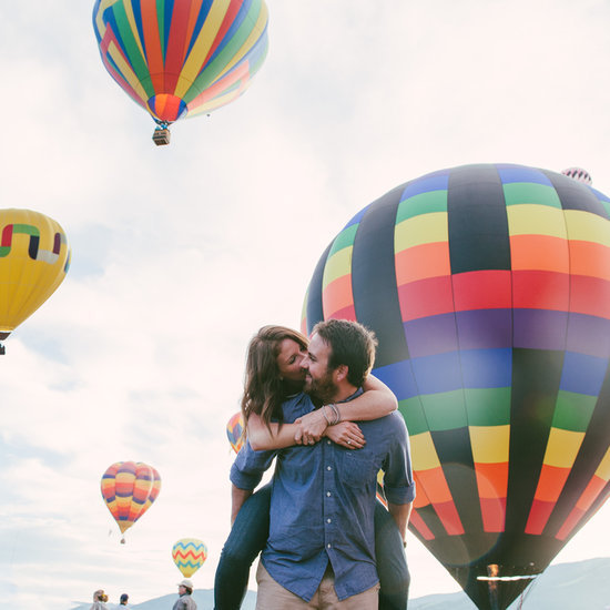 Hot Air Balloon Engagement Pictures