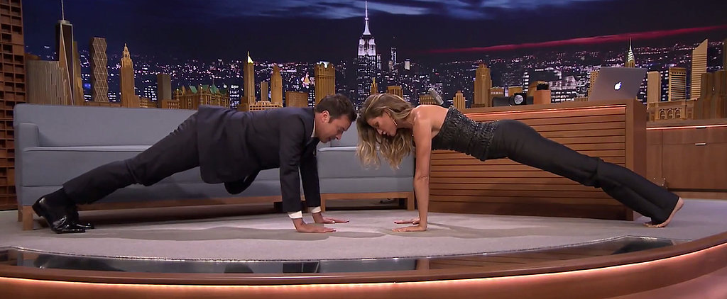 See Who Wins in This Plank-Off Between Gisele Bündchen and Jimmy Fallon