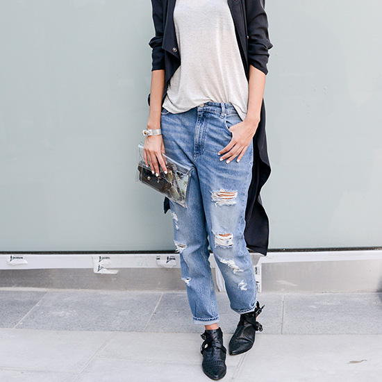 Jeans + Haut Blanc Back to Basics