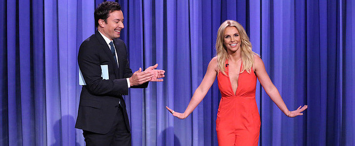 Jimmy Fallon Signed Britney Spears Up For Tinder