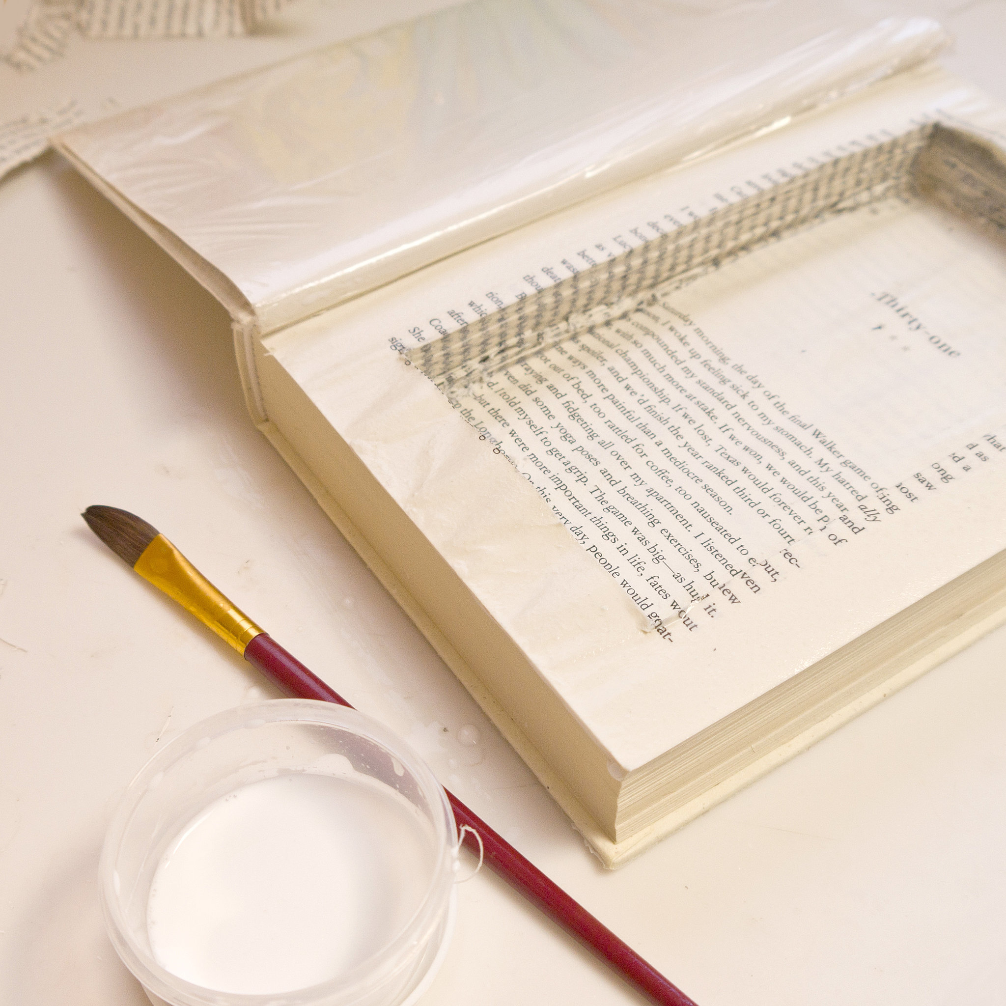 Diy Plastic Book Cover ~ Diy stash book popsugar smart living