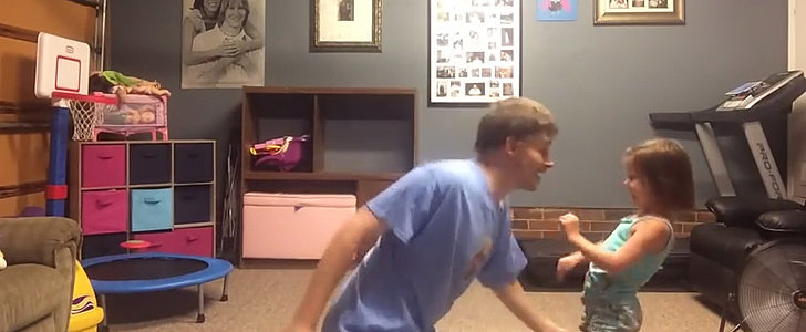 "Dad and Daughter ""Shake It Off"" to Taylor Swift"