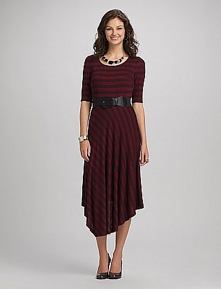 roz & ALI™ Striped Midi Dress