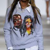 Kim Kardashian and Kanye West Jumper at London Fashion Week