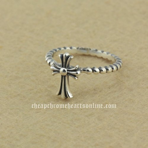Chrome Hearts Sacred Cross 925 Silver Ring for Women