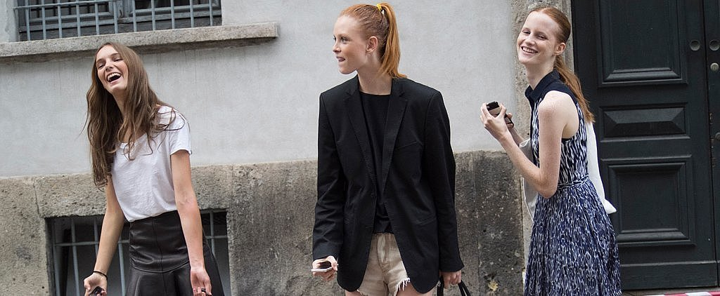 The MFW Models Are Never Fully Dressed Without a Smile — and Really Chic Shoes