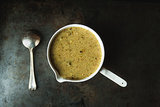 Broccoli, Lemon, and Parmesan Soup + Semolina Crackers