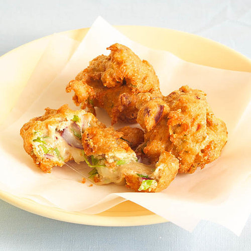 Cheesy Choux Fritter with Onion & Basil