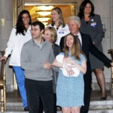 Chelsea Clinton Leaving the Hospital With Her Baby 2014