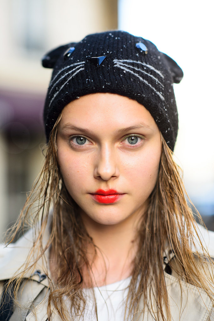 Street Style Hair Makeup Paris Fashion Week Spring 2015 Popsugar Beauty