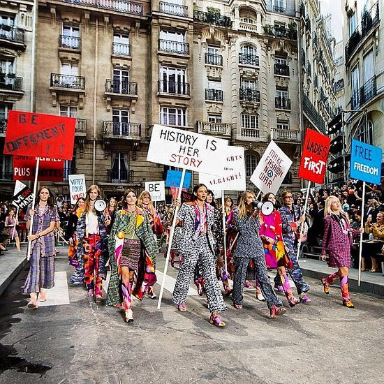 "Models Take Chanel's Paris ""Protests"" Beyond the Runway"