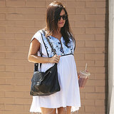 Rachel Bilson Pregnant in a White Dress