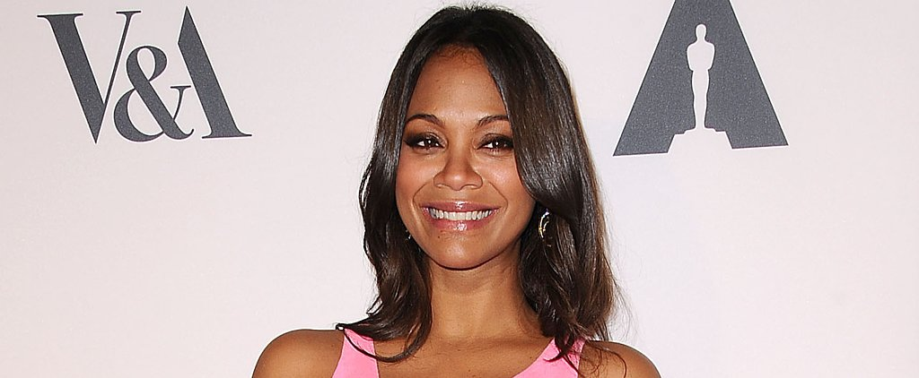 A Mommy-to-Be Glow Isn't Zoe Saldana's Only Beauty Secret