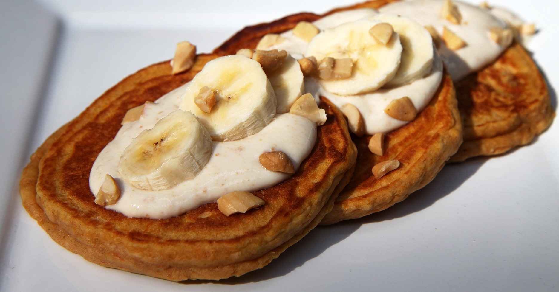 Banana Sweet Potato Pancakes With Honey Nut Yogurt | Make Your Morning ...