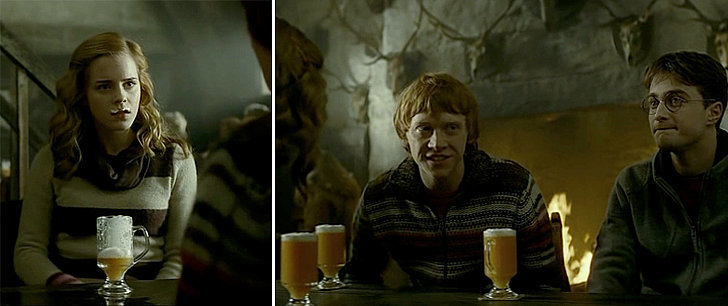 In the movies, the Butterbeer looks slightly orange with a slight ...