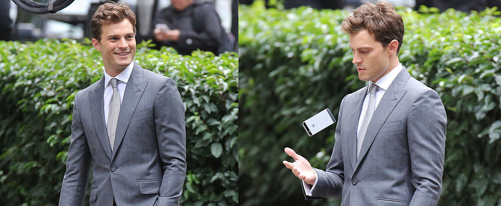 Jamie Dornan Looks Dapper While Reshooting Fifty Shades Scenes