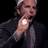 "Bradley Cooper Smashing Eggs on His Head Is Jimmy Fallon's ""Best Game"" Ever"