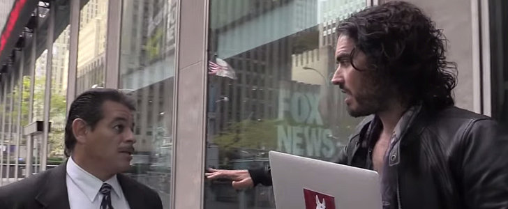 Russell Brand Threatened With Arrest Outside Fox News Headquarters