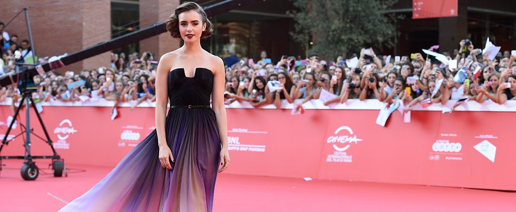Lily Collins's Ombré Elie Saab Dress Just Won the Weekend's Red Carpet