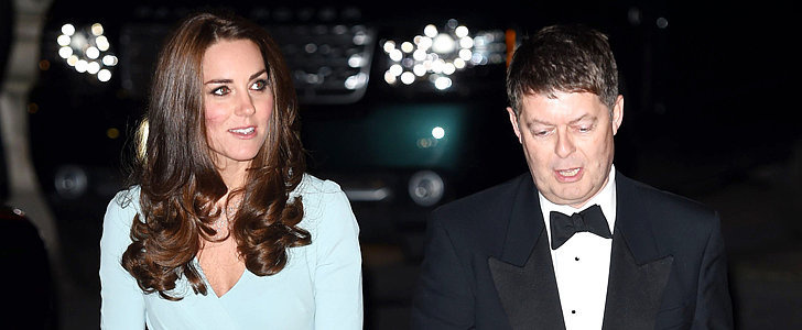 Kate Middleton Shows Her Baby Bump in Blue