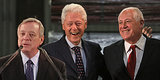 Bill Clinton Stumps For Illinois Governor Pat Quinn, Senator Dick Durbin In Chicago