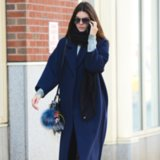 Kendall Jenner Wearing a Long Coat Street Style