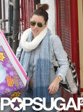 Jessica Biel Shows Her Stomach While Party Shopping