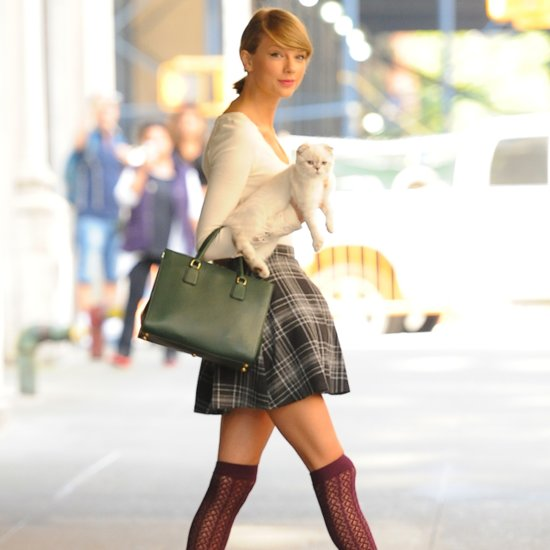 A Guide to Wearing Thigh-High Socks, as Demonstrated by Taylor Swift