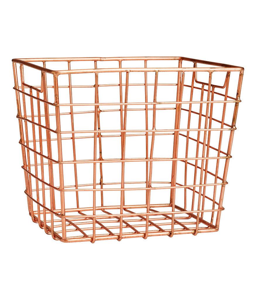 Storage Basket 55 Gorgeous H M Decor Finds For 10 Or Less Popsugar Home