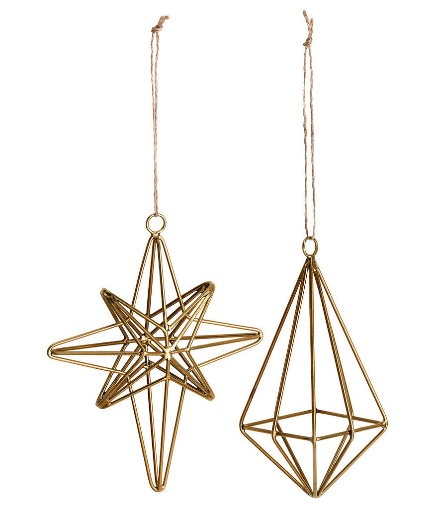 Metal ornaments 55 gorgeous h m decor finds for 10 or for H m christmas decorations