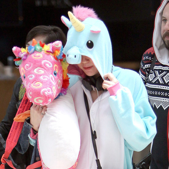 Miley Cyrus in a Unicorn Onesie | Photos
