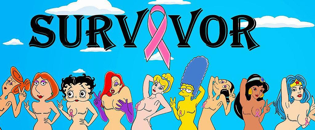 Disney Princesses Bare Their Breasts as Cancer Survivors