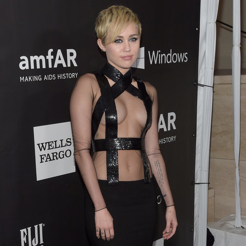 Miley and Rihanna Compete For Most Cleavage on the Red Carpet
