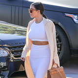 Kim Kardashian White Crop Top