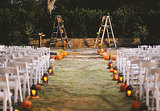 This Cozy Fall Wedding Is Filled With Halloween Touches (Like Pumpkins!)