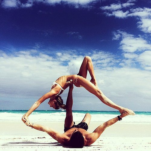 Partner Yoga Photos on Instagram