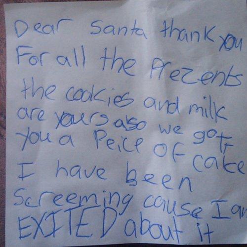 Funny Notes Kids Write Santa Claus