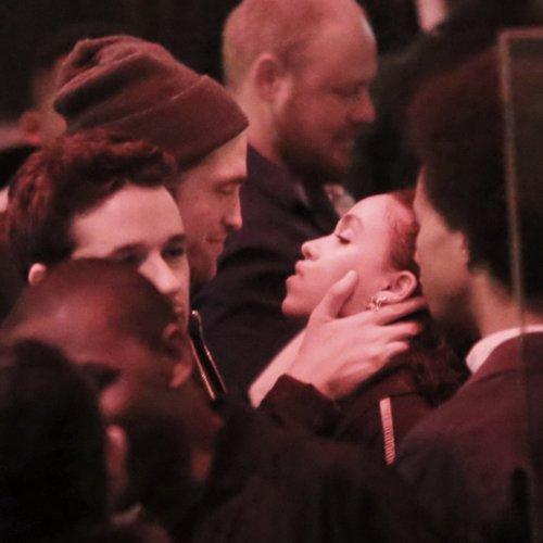 Robert Pattinson and FKA Twigs Kissing in LA