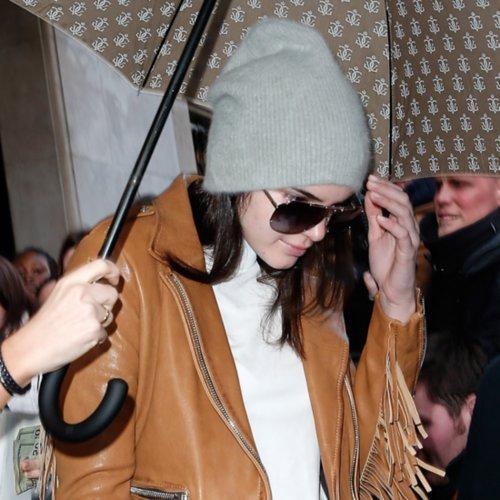 Kendall Jenner Wearing Distressed Denim