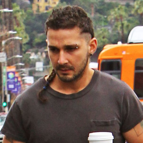 Shia LaBeouf's Rattail and Eyebrow Piercing