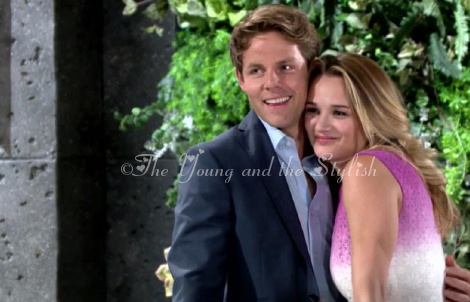 Summer Newman ombre dress the young and the restless