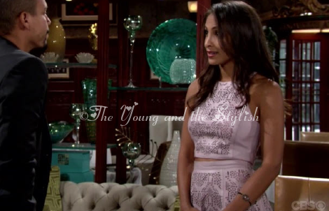 lily winters ashby pink leather outfit the young and the restless