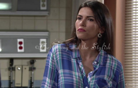 marisa sierras blue plaid shirt the young and the restless