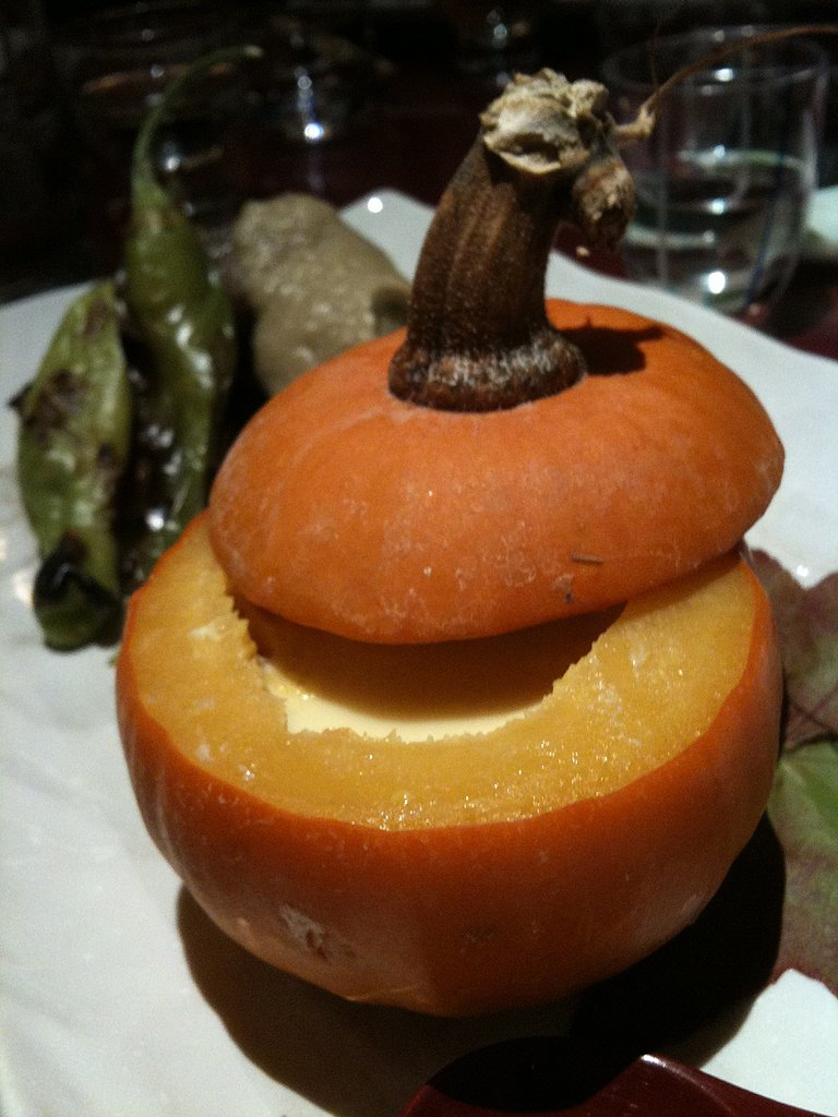 Pumpkin served with Miso Marinated Beef
