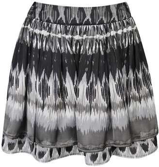Forever 21 Shopping-Tiered Ikat Satin Skirt $11.50