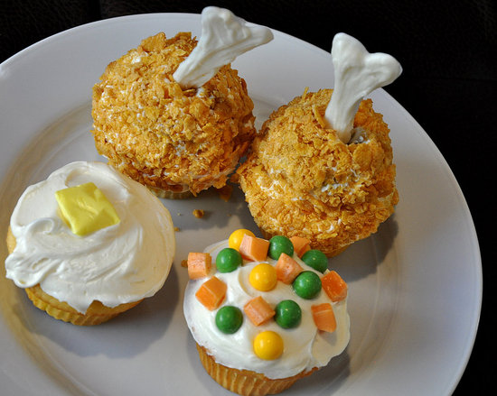 TV Dinner Cupcakes