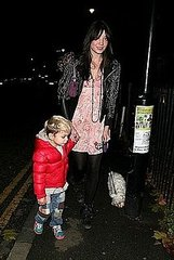 Daisy Lowe went for a walk with her half brother Kingston(Gwen Stefani's son)