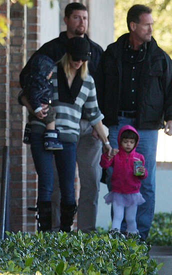 Elin Nordegren steps out with the kids